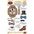 Justrite® Papercraft 4in. x 6in. Clear Stamps Set, Haberdashery Vintage Labels Five