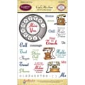Justrite® Papercraft 4in. x 6in. Clear Stamps Set, Call Me Soon