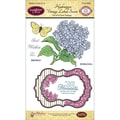 Justrite® Papercraft 4in. x 6in. Clear Stamps Set, Hydrangea Vintage Labels Seven