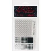 """Kellycraft™ EZ-De's 4"""" x 6"""" Clear Stamps Sheet, Nine Patch Set A"""