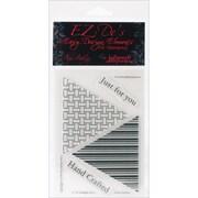 "Kellycraft™ EZ-De's 4"" x 6"" Clear Stamps Sheet, Tri Triangle Set A"
