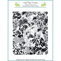 Chapel Road 5 3/4in. x 7 3/4in. Background Cling Mounted Rubber Stamp, Poinsettia
