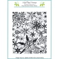 Chapel Road 5 3/4in. x 7 3/4in. Cling Mounted Rubber Stamp Set, Snowflakes Everywhere