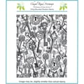Chapel Road 5 3/4in. x 7 3/4in. Background Cling Mounted Rubber Stamp, Keys