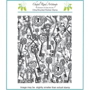 Chapel Road 5 3/4 x 7 3/4 Background Cling Mounted Rubber Stamp, Keys