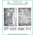 Chapel Road 5 3/4in. x 7 3/4in. Cling Mounted Rubber Stamp Set, ATC Bricks
