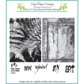 Chapel Road 5 3/4in. x 7 3/4in. Cling Mounted Rubber Stamp Set, ATC Ferns