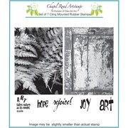 "Chapel Road 5 3/4"" x 7 3/4"" Cling Mounted Rubber Stamp Set, ATC Ferns"