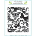 Chapel Road 5 3/4in. x 7 3/4in. Background Cling Mounted Rubber Stamp, Butterfly