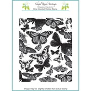 Chapel Road 5 3/4 x 7 3/4 Background Cling Mounted Rubber Stamp, Butterfly