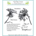 Chapel Road 5 3/4in. x 7 3/4in. Cling Mounted Rubber Stamp Set, Dandelion