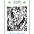Chapel Road 5 3/4in. x 7 3/4in. Background Cling Mounted Rubber Stamp, Fern