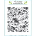 Chapel Road 5 3/4in. x 7 3/4in. Background Cling Mounted Rubber Stamp, Floral