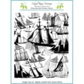 Chapel Road 5 3/4in. x 7 3/4in. Background Cling Mounted Rubber Stamp, Sail Away