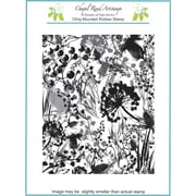 Chapel Road 5 3/4 x 7 3/4 Background Cling Mounted Rubber Stamp, Weeds