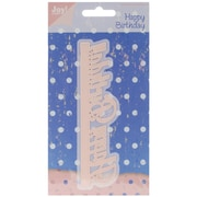 "Ecstasy Crafts Joy! Crafts 5 1/2"" x 1 1/2"" Cut & Emboss Die, Happy Birthday Edge"