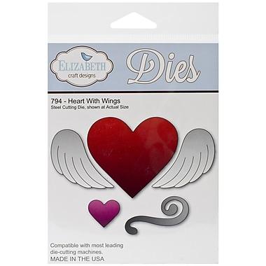 Elizabeth Craft Designs Die Set, Heart With Wings