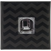 Pioneer™ 4 x 6 Embossed Leatherette 2-Up Book Bound Photo Album, Black Chevron