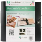 TotallyTiffany™ Mixed Media Storage Binder, 11.8 x 12 x 2.5