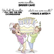 Art Impressions Girlfriends 9 x 4 1/2 Cling Rubber Stamp, Giant Cake