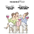 Art Impressions Girlfriends 9in. x 4 1/2in. Cling Rubber Stamp, Wine Tasters