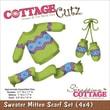 """CottageCutz® 4"""" x 4"""" Universal Thin Die, Sweater, Mitten & Scarf Set"""