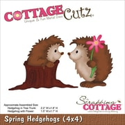 "CottageCutz® 4"" x 4"" Universal Thin Die, Spring Hedgehogs"