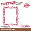 """CottageCutz® Elites 4"""" x 3.2"""" Universal Thin Die, Sweet Love Frame"""