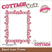 "CottageCutz® Elites 4"" x 3.2"" Universal Thin Die, Sweet Love Frame"