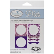 Elizabeth Craft Designs Pop It Up™ Die Set, Square With Circle Frame Edges