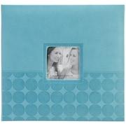 """Pioneer™ 12"""" x 12"""" Embossed Postbound Scrapbook Album, Aqua Circles"""