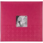 "Pioneer™ 12"" x 12"" Embossed Postbound Scrapbook Album, Pink Circles"