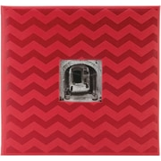 Pioneer™ 12 x 12 Embossed Postbound Scrapbook Album, Red Chevron