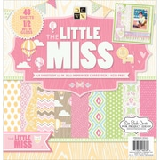 "Diecuts With A View® 12"" x 12"" Paper Stack, Little Miss"