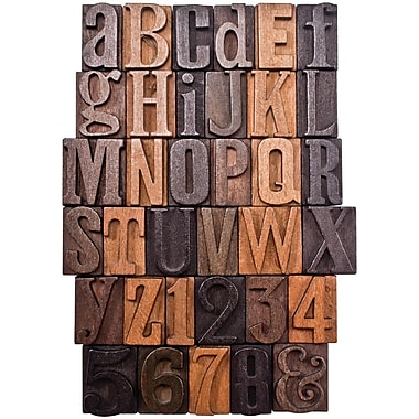 Tim Holtz TH93130 Idea-ology Letterpress, Brown