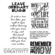 "Tim Holtz® Stampers Anonymous 7"" x 8 1/2"" Cling Rubber Stamp Set, Random Quotes"