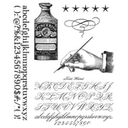 "Tim Holtz® Stampers Anonymous 7"" x 8 1/2"" Cling Rubber Stamp Set, Typegraphy"