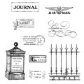 Tim Holtz® Stampers Anonymous 7 in. x 8 1/2in. Cling Rubber Stamp Set, Classics #13