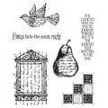 Tim Holtz® Stampers Anonymous 7 in. x 8 1/2in. Cling Rubber Stamp Set, Classics #16
