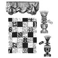 Tim Holtz® Stampers Anonymous 7 in. x 8 1/2in. Cling Rubber Stamp Set, Classics #19