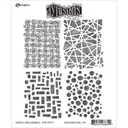 """Tim Holtz® Ranger 8 1/2"""" x 7"""" Dylusions Cling Rubber Stamp Collections, Graphic Backgrounds"""