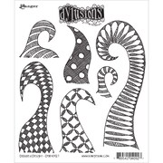 """Tim Holtz® Ranger 8 1/2"""" x 7"""" Dylusions Cling Rubber Stamp Collections, Doodle Delight"""