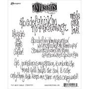 """Tim Holtz® Ranger 8 1/2"""" x 7"""" Dylusions Cling Rubber Stamp Collections, the Write Words"""