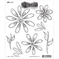 Tim Holtz® Ranger 8 1/2in. x 7in. Dylusions Cling Rubber Stamp Collections, Fancy Florals