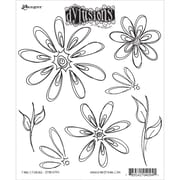 "Tim Holtz® Ranger 8 1/2"" x 7"" Dylusions Cling Rubber Stamp Collections, Fancy Florals"