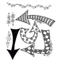 Tim Holtz® Ranger 8 1/2in. x 7in. Dylusions Cling Rubber Stamp Collections, Which Way Up