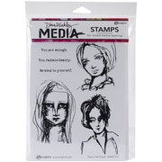 Tim Holtz® Ranger 6 x 9 Media Cling Rubber Stamp, Face In the Crowd