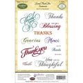 Justrite® Papercraft 4in. x 6in. Cling Stamps Set, Grand Thank You Sentiments