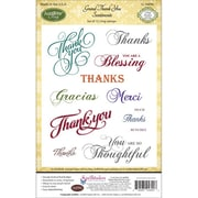 "Justrite® Papercraft 4"" x 6"" Cling Stamps Set, Grand Thank You Sentiments"