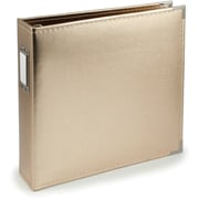 We R Memory Keepers™ 8 1/2 x 11 Faux Leather 3-Ring Binder, Gold